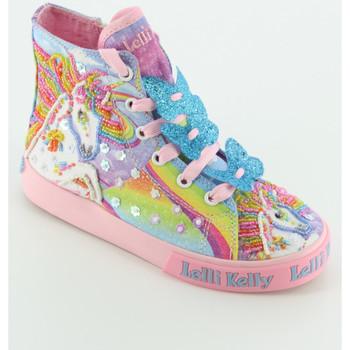 Scarpe Bambina Sneakers alte Lelli Kelly 9090 UNICORN sneaker alta Multicolore