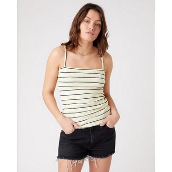 Abbigliamento Donna Top / T-shirt senza maniche Wrangler Top Spaghetti Strap GIALLO