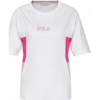 Abbigliamento Donna T-shirt maniche corte Fila T shirt Jaelle Blocked Tee 683293 Donna Bianco Bianco