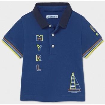 Abbigliamento Unisex bambino Polo maniche corte Mayoral ATRMPN-26055 Blu