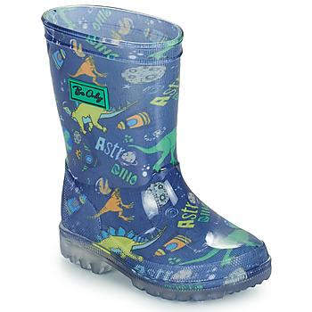 Scarpe Bambino Stivali da pioggia Be Only DINO FLASH Blu / Verde