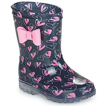 Scarpe Bambina Stivali da pioggia Be Only LOVANA FLASH Rosa / Marine
