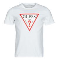 Abbigliamento Uomo T-shirt maniche corte Guess CN SS ORIGINAL LOGO TEE Bianco