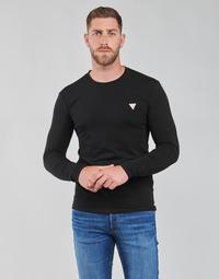 Abbigliamento Uomo T-shirts a maniche lunghe Guess CN LS CORE TEE Nero