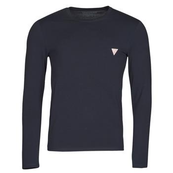 Abbigliamento Uomo T-shirts a maniche lunghe Guess CN LS CORE TEE Marine