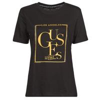 Abbigliamento Donna T-shirt maniche corte Guess SS CN SIMONNE TEE Nero