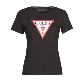Abbigliamento Donna T-shirt maniche corte Guess SS CN ORIGINAL TEE Nero