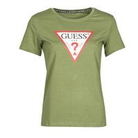 Abbigliamento Donna T-shirt maniche corte Guess SS CN ORIGINAL TEE Kaki