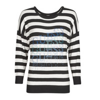 Abbigliamento Donna Maglioni Guess CLAUDINE BAT SLEEVE SWTR Nero / Bianco