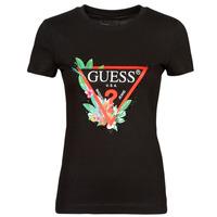 Abbigliamento Donna T-shirt maniche corte Guess SS CN NORA TEE Nero