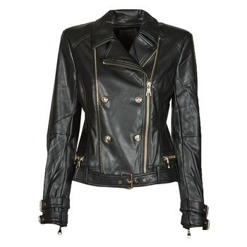 Abbigliamento Donna Giacca in cuoio / simil cuoio Guess OLIVIA MOTO JACKEY Nero