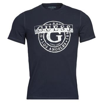 Abbigliamento Uomo T-shirt maniche corte Guess DOUBLE G CN SS TEE Marine