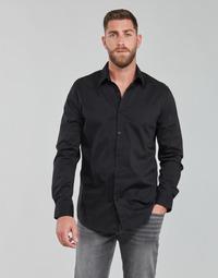 Abbigliamento Uomo Camicie maniche lunghe Guess LS SUNSET SHIRT Nero