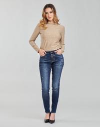 Abbigliamento Donna Jeans skynny Guess 1982 EXPOSED BUTTON Blu / Scuro