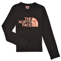 Abbigliamento Bambino T-shirts a maniche lunghe The North Face EASY TEE LS Nero