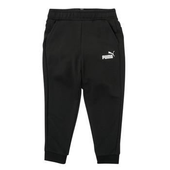 Abbigliamento Bambino Pantaloni da tuta Puma ESSENTIAL SLIM PANT Nero