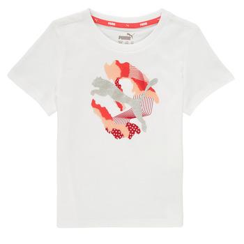 Abbigliamento Bambina T-shirt maniche corte Puma ALPHA TEE Bianco