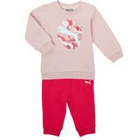 Abbigliamento Bambina Completo Puma Minicats ALPHA Crew Jogger FL Rosa
