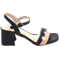 Scarpe Donna Sandali Luciano Barachini donna, scarpe sandalo, nero e beige GL 281