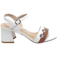 Scarpe Donna Sandali Luciano Barachini donna, scarpe sandalo, bianco e cuoio GL 281