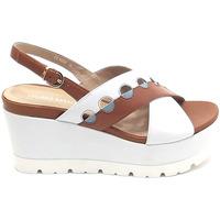 Scarpe Donna Sandali Luciano Barachini donna, scarpe sandalo, bianco GL 105
