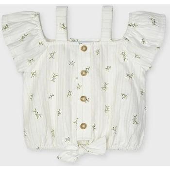Abbigliamento Bambina Camicie Mayoral ATRMPN-26128 Bianco