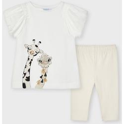 Abbigliamento Bambina Completo Mayoral ATRMPN-26131 Bianco