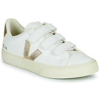 Scarpe Donna Sneakers basse Veja RECIFE LOGO Bianco / Oro