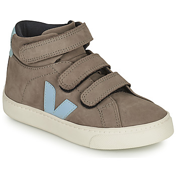 Scarpe Unisex bambino Sneakers alte Veja SMALL ESPLAR MID Grigio / Blu