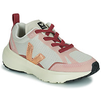 Scarpe Bambina Sneakers basse Veja SMALL CANARY Bianco / Rosa