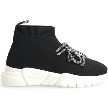 Scarpe Donna Sneakers alte Love Moschino  Nero