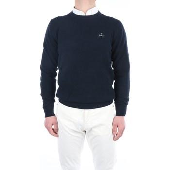 Abbigliamento Uomo Maglioni Gant 2101.8030521 Girocollo Uomo Evening blue Evening blue