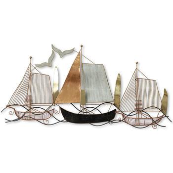 Casa Dipinti, tele Signes Grimalt Ornamento Da Parete In Barca Marrón