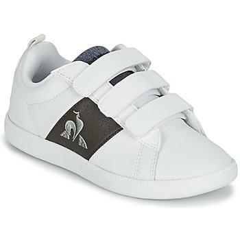 Scarpe Unisex bambino Sneakers basse Le Coq Sportif COURTCLASSIC PS Bianco / Marrone