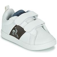 Scarpe Unisex bambino Sneakers basse Le Coq Sportif COURTCLASSIC INF Bianco / Marrone