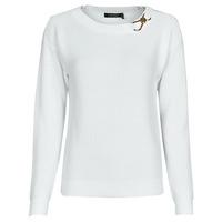 Abbigliamento Donna Maglioni Lauren Ralph Lauren YAMINAH-LONG SLEEVE-SWEATER Bianco