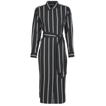 Abbigliamento Donna Abiti lunghi Lauren Ralph Lauren RYNETTA-LONG SLEEVE-CASUAL DRESS Nero