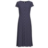 Abbigliamento Donna Abiti lunghi Lauren Ralph Lauren PIPPA-CAP SLEEVE-DAY DRESS Blu