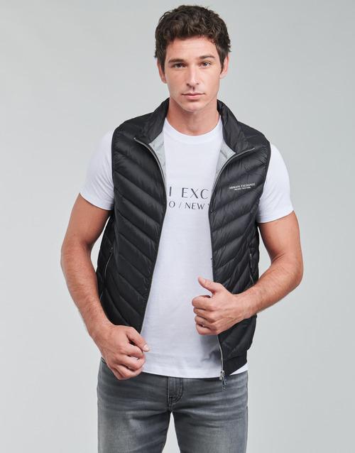 Abbigliamento Uomo Piumini Armani Exchange 8NZQ52 Nero