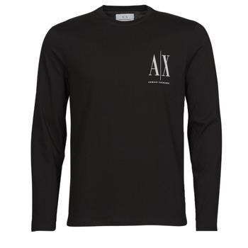 Abbigliamento Uomo T-shirts a maniche lunghe Armani Exchange 8NZTPL Nero