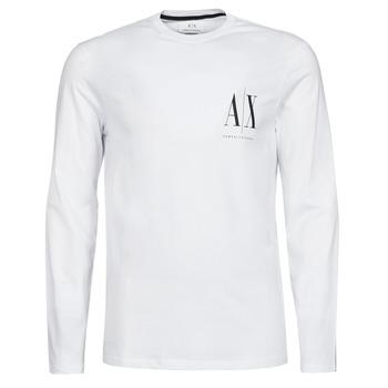 Abbigliamento Uomo T-shirts a maniche lunghe Armani Exchange 8NZTPL Bianco