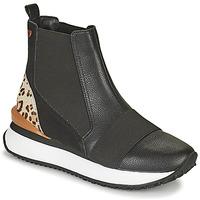 Scarpe Donna Sneakers alte Gioseppo LUNNER Nero / Leopard