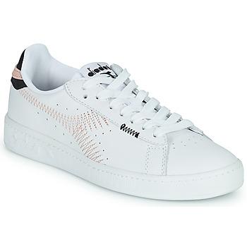 Scarpe Donna Sneakers basse Diadora GAME L LOW ZIG ZAG WN Bianco / Rosa