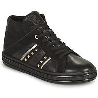 Scarpe Donna Sneakers alte Geox LEELU Nero / Argento