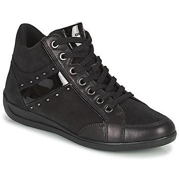 Scarpe Donna Sneakers alte Geox MYRIA Nero