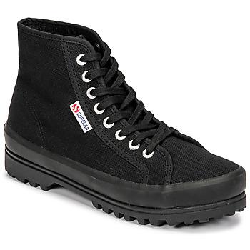 Scarpe Donna Sneakers alte Superga 2341 ALPINA COTU Nero