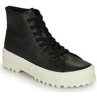 Scarpe Donna Sneakers alte Superga 2341 ALPINA NAPPA Nero