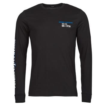 Abbigliamento Uomo T-shirts a maniche lunghe Diesel T-DIEGOS-LS-K25 Nero
