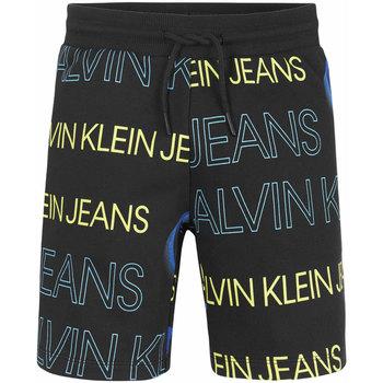 Abbigliamento Bambino Shorts / Bermuda Calvin Klein Jeans PIXELATED AOP JOGGER SHORTS BOYS Black