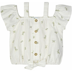 Abbigliamento Bambina Camicie Mayoral BLUSA STAMPATA BIMBA Panna